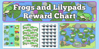 Frog Behavior Clip Chart Frogs And Lily Pads Reward Display Pack Frogs Lilypads
