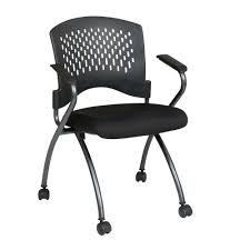 folding office chair. Pro-Line II Coal FreeFlex Rolling Visitor Office Chair (Set Of 2) Folding