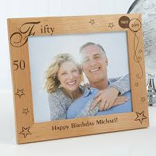 personalized happy birthday wooden picture frame birthday memories design 1010