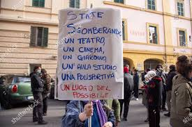 Sitin protest against eviction Cinema Palazzo Piazza Editorial Stock Photo  - Stock Image