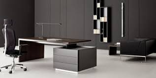 Contemporary Executive Office Furniture With Brown Modern Desk
