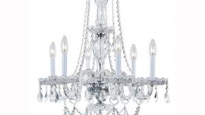cool design home depot crystal chandelier hampton bay lake point 6 light chrome and clear