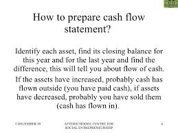 Creating A Cash Flow Statement How To Prepare Cash Flow Statement