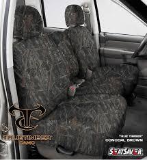 seatsaver seat protector 2007 09 buick rainer chevrolet trailblazer gmc envoy 2nd row 60 true timber conceal brown ss7396ttcb