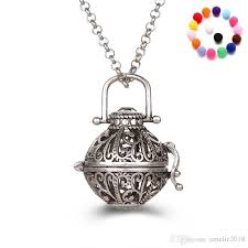 whole aromatherapy diffuser necklace essential oil diffuser necklaces with 31 inch link chain fashion jewelry holiday gifts fine jewelry pendant