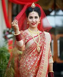 nepali wedding tradition nepal marriage bride makeup simple saree dress