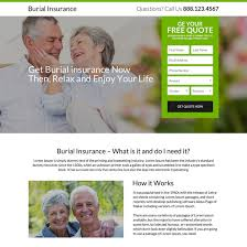 burial insurance phone call and email capturing responsive landing page burial insurance example