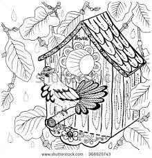 Small Picture Owl Drawing Coloring Page Black Outlines Stock Vector 367530314