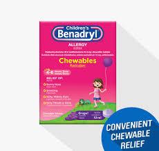 Childrens Benadryl Chewable Tablets Benadryl