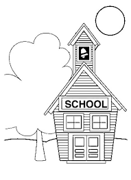 Small Picture School House Coloring Free Download