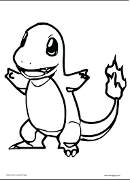 Small Picture Charmander Coloring Page Free Printable Pages Throughout