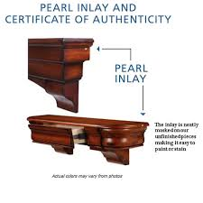pearl inlay on pearl mantels