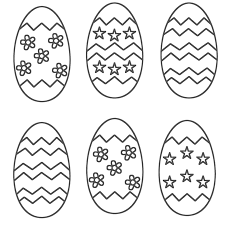 Free Easter Holiday Eggs Coloring Pages