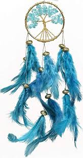 What Were Dream Catchers Used For Fascinating Buy Rooh Healing Tree Brass Dream Catcher Turquoise Blue Used As