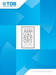 Tdb Mongolia Annual Report 2015 English By Chugira Issuu