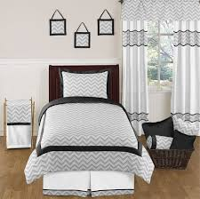 black and gray chevron zig zag childrens and kids bedding 4pc twin set by sweet jojo designs only 63 99