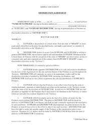 Sample Format Of Dealership Agreement Exclusive Template