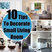 tips for decorating a small living room