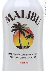 malibu barbados rum with coconut flavor