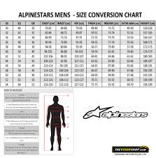 12 Eye Catching Alpinestars One Piece Size Chart
