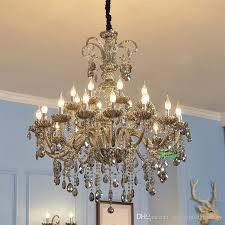 living room crystal chandelier lighting vintage lamp indoor staircase lighting crystal bathroom lamp villa duplex crystal