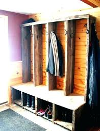 Coat Rack With Seat Metal Entryway Bench With Wood Seat Shoe Coat Rack Storage Hooks 35