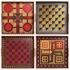 Vintage Wooden Game Boards