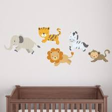 safari pattern animals printed wall decal on safari animal wall art with safari animal wall art wayfair