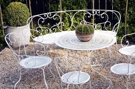 21 wrought iron garden furniture
