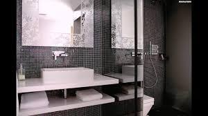 Mosaik Fliesen Badezimmer Schwarz Weiss Waschbecken Rechteckig