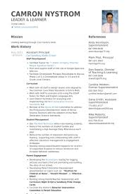 Assistant Principal Resume Samples - Visualcv Resume Samples Database for  Assistant Principal Resume