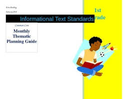 monthly planning guide ccss 1st grade informational text monthly thematic planning guide