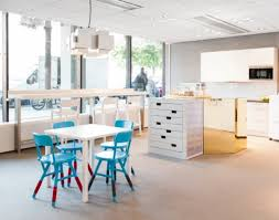 home office shared desk idea modern. Home Office : Kitchen Furniture Other Modern Shared With Blue And White Chairs Also Desk Idea G