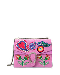 gucci bags new collection 2017. gucci pink dionysus medium beaded heart shoulder bag bags new collection 2017