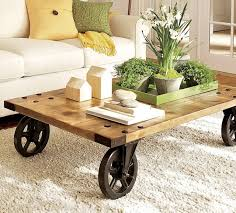 Remarkable Rustic Coffee Table With Wheels Interiorvues Regarding  Contemporary Property Coffee Table With Wheels Decor