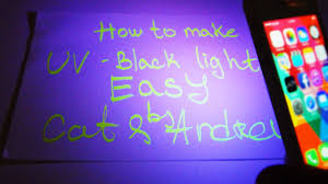 Black Light Vs Ultraviolet Light How To Make Black Light Uv Under 1 Minute Easy