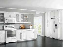 modern white and gray kitchen. Kitchen:Modern White Kitchen Cabinet Grey Wall Painting Dark Wood Parquete Together With Extraordinary Pictures Modern And Gray B