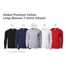 Gildan Premium Cotton Long Sleeves T Shirts 76400