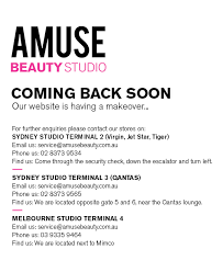 amuse beauty ing back soon