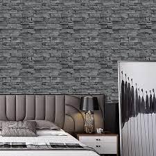 Buy Grey Brick Wallpaper Peel and Stick ...