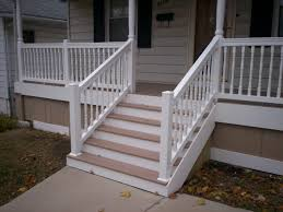 AZEK Front Porch With Vinyl Railings And Columns In St Louis - Exterior doors st louis
