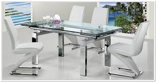extendable dining table set: extendable glass dining table and  chairs home design ideas