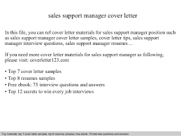 support manager resumes sales support manager cover letter 1 638 jpg cb 1409395094