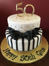 Black And Gold 50th Birthday Cake Cumple Abue Pinterest
