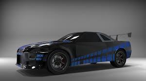 nissan skyline r34 paul walker. Fine Paul Nissan Skyline GTR  R34 Paul Walker Edition  3D CAD Model Library  GrabCAD And Paul