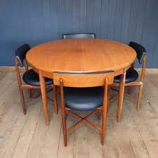 g plan fresco retro mid century extending circular teak dining table