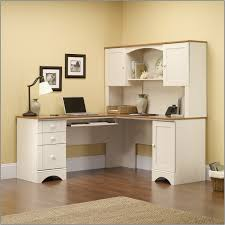 sauder harbor view computer desk with hutch antiqued white and get inspired with our desk design