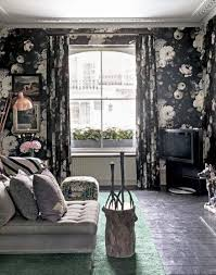 floral wallpaper bedroom ideas. delve into your dark side with a gothic-inspired black floral wallpaper. wallpaper bedroom ideas i