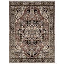 mohawk home karastan studio wander aude charcoal 8 ft x 11 ft area rug