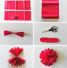 Paper Flower Tissue Paper Diy Tissue Paper Flower Backdrop